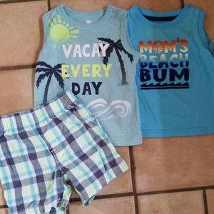 3 pcs 9-12 month vacation clothes